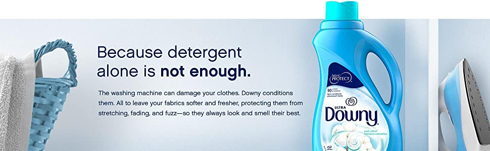 Detergent, Downy, Cool Cotton, Fabric Softener, Fabric Conditioner, protects, stretching, fading,