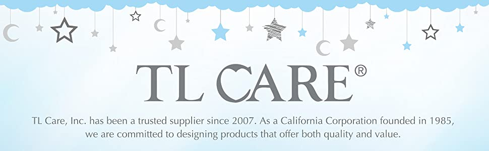 TL Care 100/% Natural Cotton Value Jersey Knit Fitted Portable//Mini-Crib Sheet G