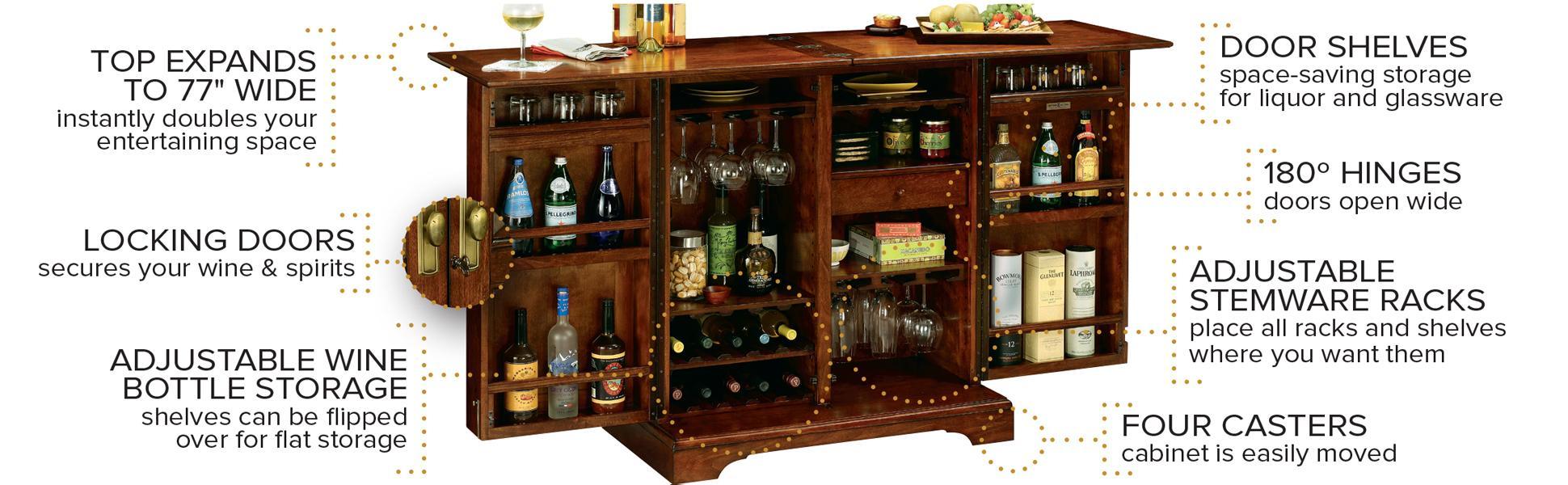 Amazon.com: Howard Miller Brunello Wine and Bar Storage Cabinet ...