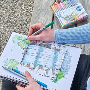Dubbelfibermålare; kalligrafi; tråd; design; dag; konstnär; konst; bokstäver