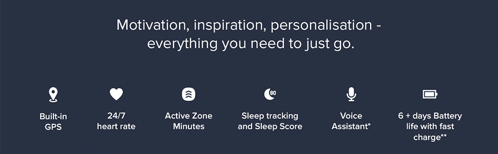 fitbit; fitbit versa 3; smartwatch; GPS; music; battery; heart rate; health watch; premium; steps