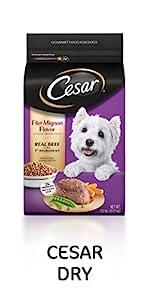 Cesar Dry Dog Food, Filet Mignon Flavor, Cesar Dog Food, Dry Kibble, Westie Food, Food for Dogs