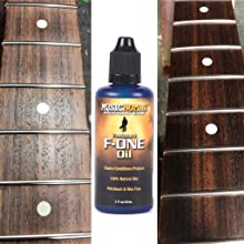 Fretboard cleaner on rosewood