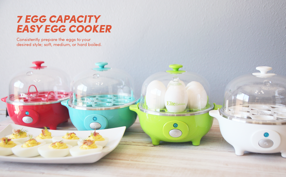 easy egg cooker 7 egg capacity