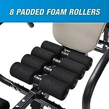 eight padded foam rollers