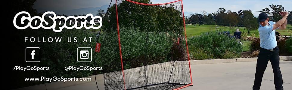 gosports giant golf hitting net garage backyard golfer gifts father's day portable foldable bow net