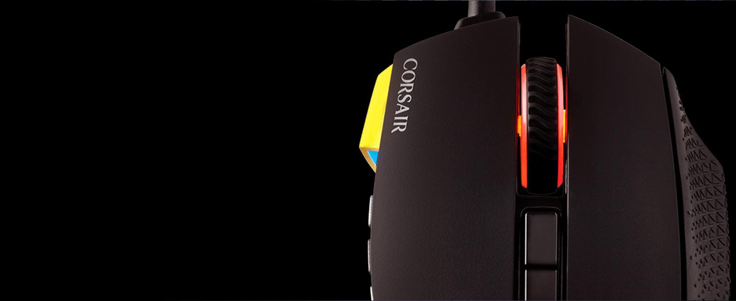 CH-9304011-NA SCIMITAR PRO RGB Optical MOBA/MMO Gaming Mouse — Yellow