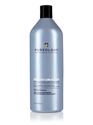 Strength cure, Purple conditioner, Blonde hair, Damaged hair