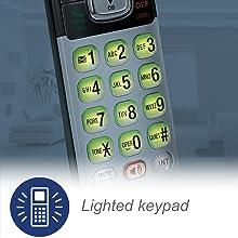 backlit keypad