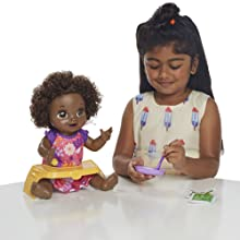 baby alive doll; realistic baby dolls; black hair baby doll; gifts for girls, doll with diapers