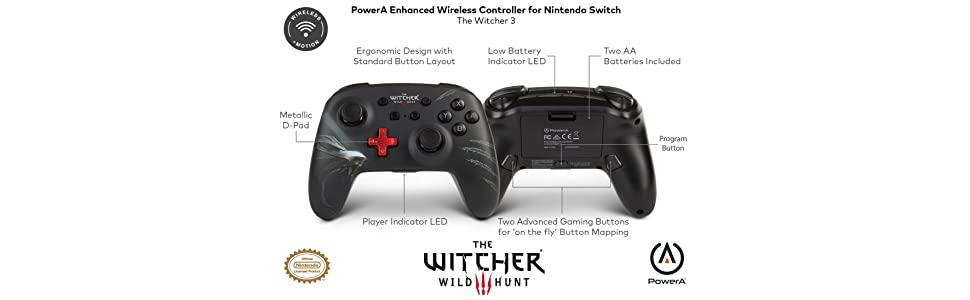 PowerA - Mando inalámbrico mejorado para Nintendo Switch Witcher 3 ...