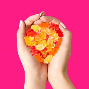 handful fruity gummy bears