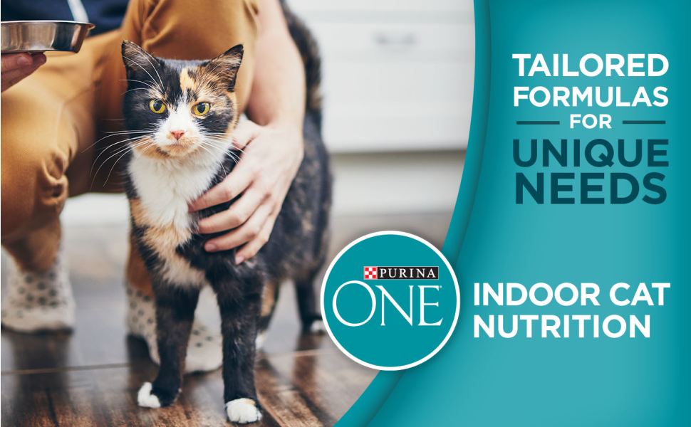 Tailored formulas for unique needs. Purina ONE cat food for indoor cat nutrition