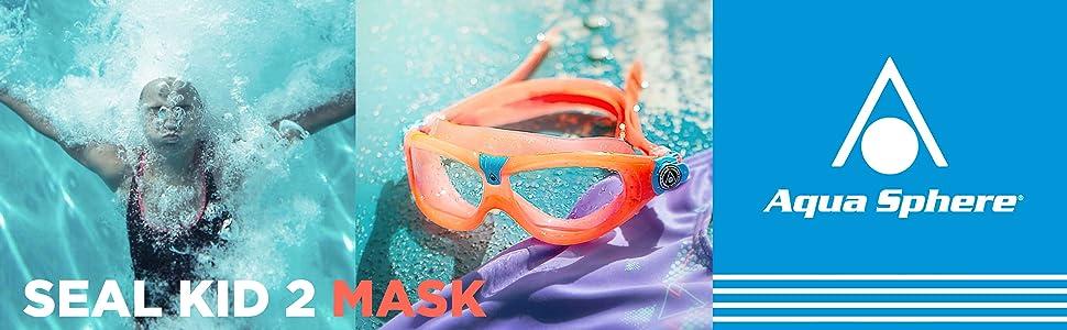 2018 Aqua 2018 Aqua Sphere pour enfant Seal Kid 2/ Clear Lens Taille unique de natation pour masque de ski