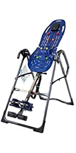 Teeter inversion table, EP-560 with back pain relief kit