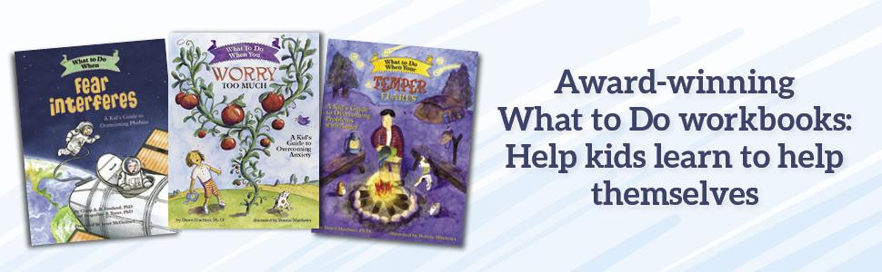 Award-winning What to Do workbooks banner ad help kids help themselves