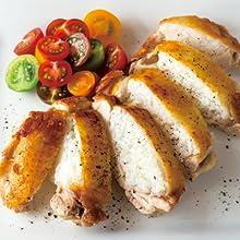 鶏もも肉のライス詰めソテー
