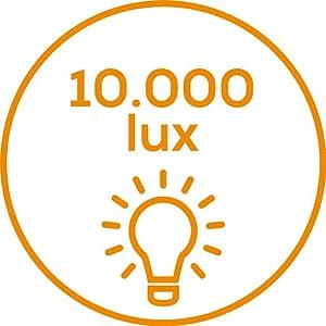 Lichtstärke 10.000 Lux bei ca. 15 cm Abstand