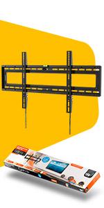 suporte tv fixo parede, elg, tela plana, tela curva, n01v8
