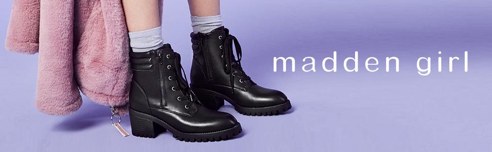 Madden Girl Women's Hush Combat Boot