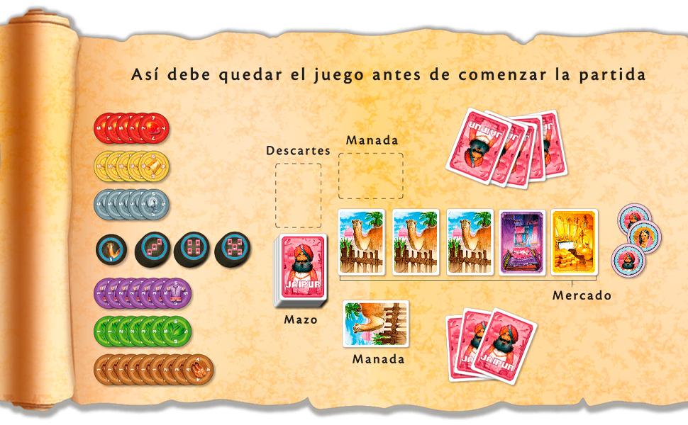 Space Cowboys- Jaipur – Un Juego de Comercio y Cartas para Dos Jugadores, Color (SCJAI01ES): Amazon.es: Juguetes y juegos