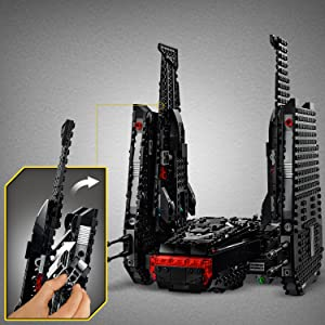 Amazon Com Lego Star Wars The Rise Of Skywalker Kylo Ren S Shuttle 75256 Star Wars Shuttle Action Figure Building Kit 1 005 Pieces Toys Games