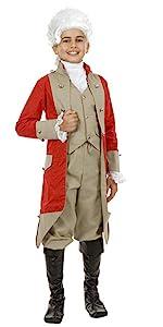 Boy's British Red Coat Soldier Costume