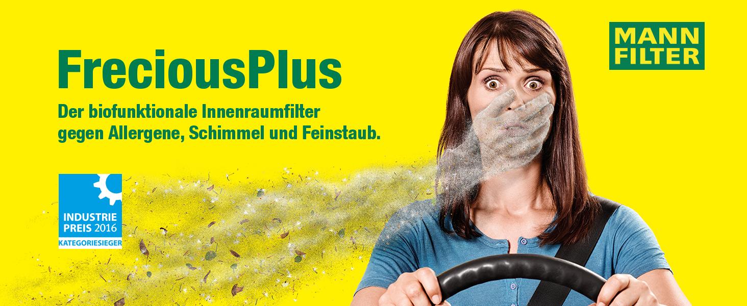 Original Mann Filter Innenraumfilter Fp 25 012 Freciousplus Biofunktionaler Pollenfilter Für Pkw Auto