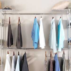 seville classics metal steel expandable closet organizer storage wardrobe clothes hanger