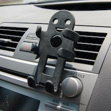 360 degree rotating clip attaches to car vents