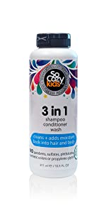 SoCozy 3-in-1 (Shampoo + Conditioner + Body Wash) CLEANS + ADDS MOISTURE: Gently cleans, conditions