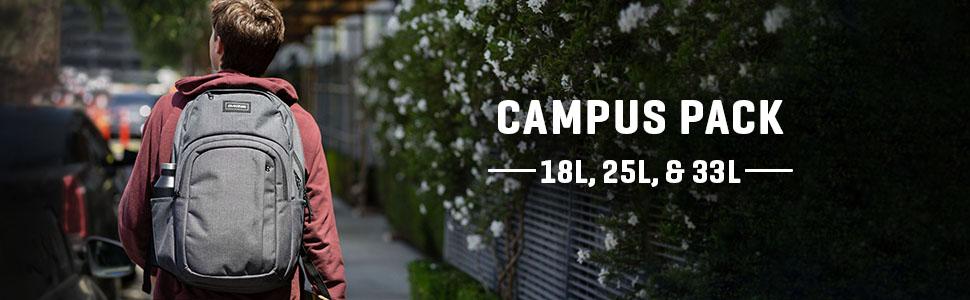 Dakine Campus Backpack with Laptop pocket 18L, 25L, 33L Sizes