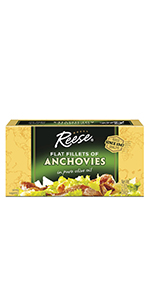 Reese Flat Anchovies, 2-Ounce, 10-Count Cans