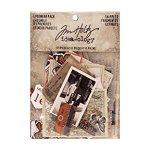 tim holtz ideaology collage paper typography vintage mixed media assemblage art crafts