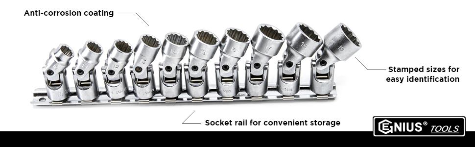 3/8 drive universal socket set, 3/8 drive 12 point socket set