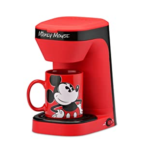 Mickey Mouse Coffee Maker Single Serve KCUP Disney Pixar Cartoon Morning Present Gift