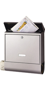 Stainless Steel Burg-W/ächter 39680 Letterbox Oslo-Set 37670 NI