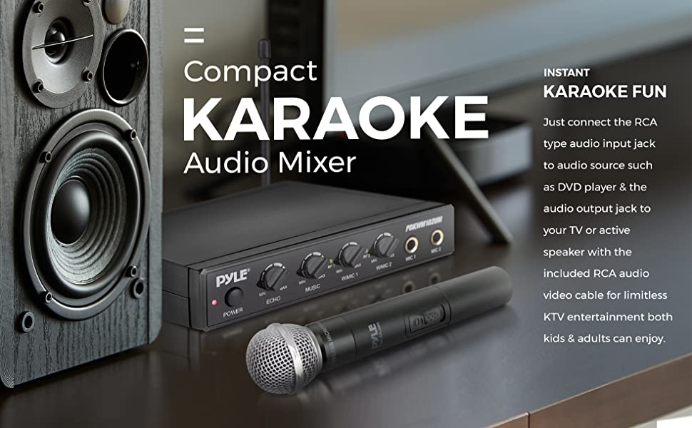 Wireless Karaoke Microphone, Audio Sound Mixer, Audio Mixer, Portable Audio Sound Mixer