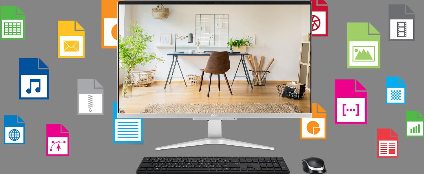 Acer Aspire C27-962-UR11 10th Gen Intel i5-1035G1 NVIDIA MX130 27 Full HD AIO Desktop