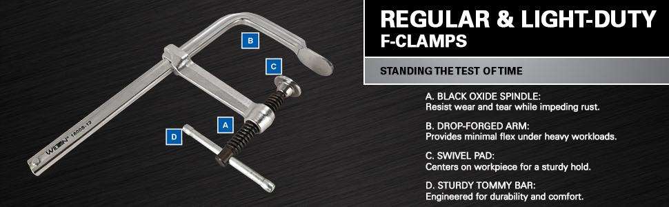 wilton regular-duty light-duty f-clamps f-clamp