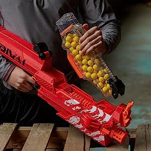 Amazoncom Nerf Rival Nemesis Mxvii 10k Red Toys Games