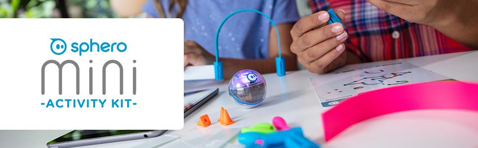 Sphero Mini Activity Kit, app-enabled robotic ball, STEM activity set for kids
