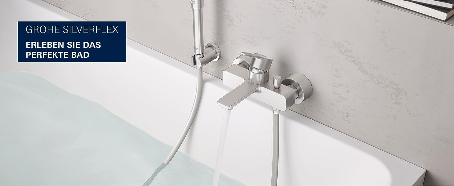 Duschschläuche Symbol Der Marke Grohe Duschsysteme Edelstahloptik Silverflexbrause Verchromt Silber Duschschlauc Neueste Technik