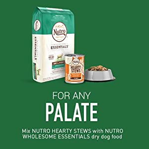 For Any Plate, Mix with Dry and Wet Food; Nutro Wholesome Essentials dry dog food