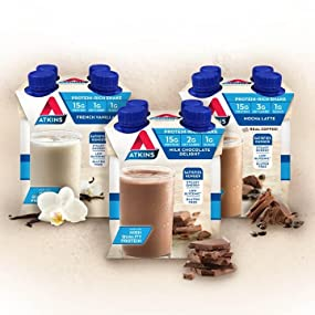diet shakes, stkins diet, meal replacement drinks, high protein, low carb, low sugar, high fiber
