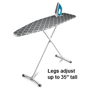 Sturdy Steel legs adjust to any height adjustable tall short folds flat space saving sleek