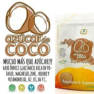 Energy Feelings Azúcar de Coco Ecológico, XL - 2 Paquetes de ...