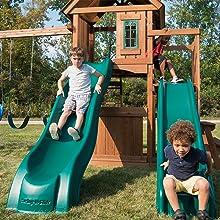 Willows Peak Deluxe, WS 8350, swing set for kids, swing set with slide, wooden swing set