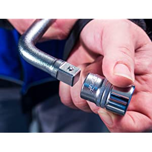 HAZET Ausziehbarer Radmuttern-Schlüssel 772 mit Steckschlüssel-Einsatz