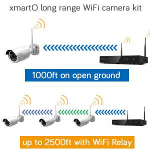 xmarto long range wifi camera system 1000ft, up to 2500ft range